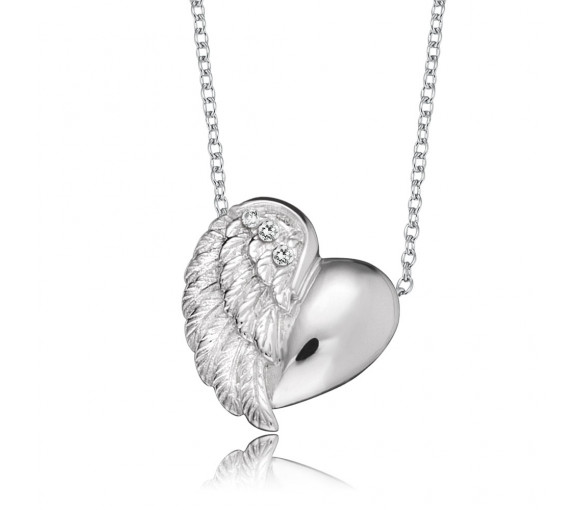 Engelsrufer Halskette Herzflügel Silber - ERN-LILHEARTWING