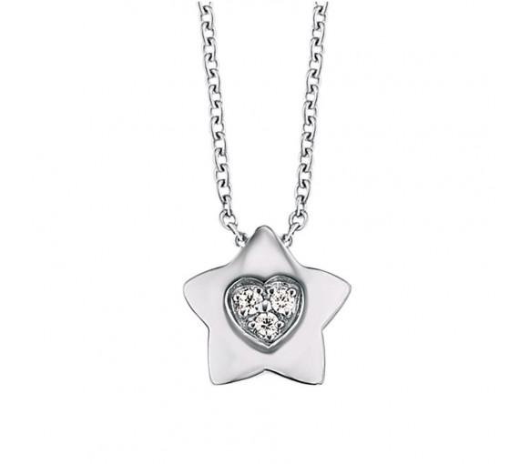 Herzengel Halskette mit Stern - HEN-HEARTSTAR-ZI