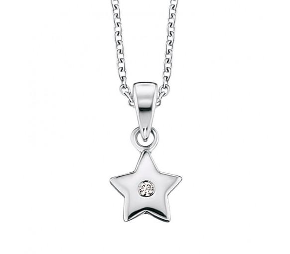 Herzengel Halskette mit Stern - HEN-STAR-ZI