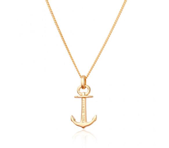 Paul Hewitt Necklace Anchor Spirit 18K Plated Gold - PH-AN-G