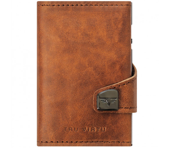 Tru Virtu Click & Slide Wallet Natural Brown Silver - 24.10.4.0004.04