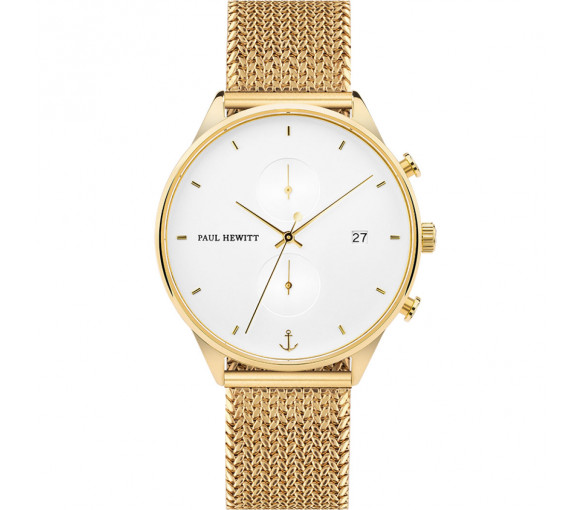 Paul Hewitt Chrono Line White Sand Gold - PH-C-G-W-50S