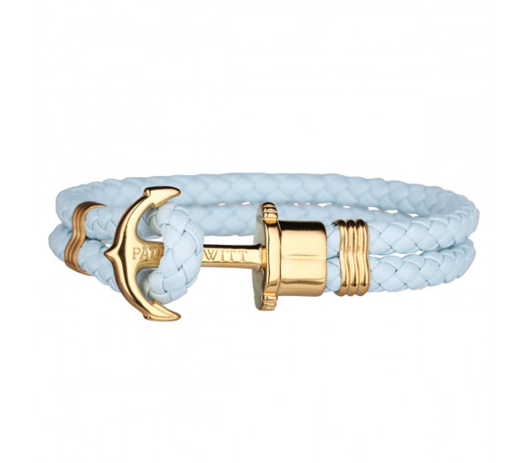 Paul Hewitt Anchor Bracelet Phrep Gold Blue Sky - PH-PH-L-G-BS