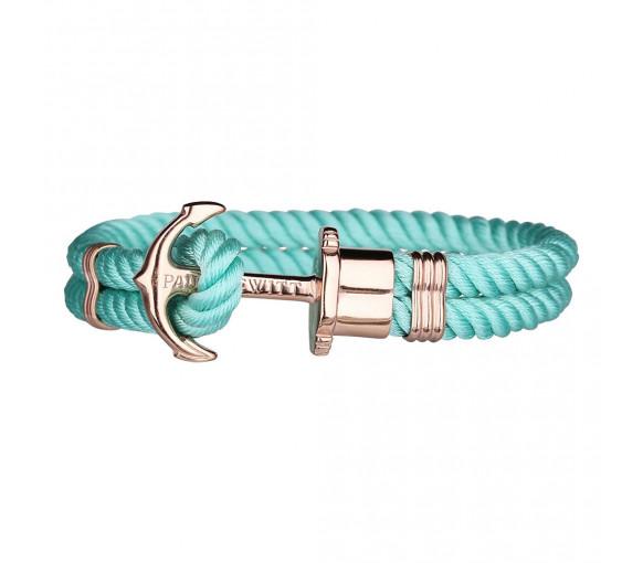 Paul Hewitt Anchor Bracelet Phrep Rose Gold Nylon Turquoise - PH-PH-N-R-TS