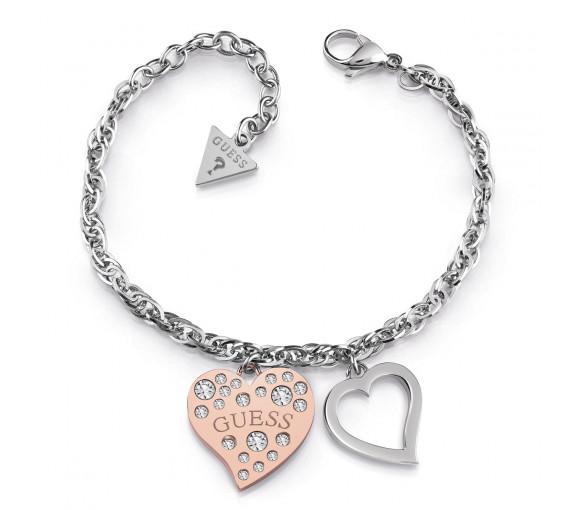 Guess Heart Warming Armband - UBB78095-S