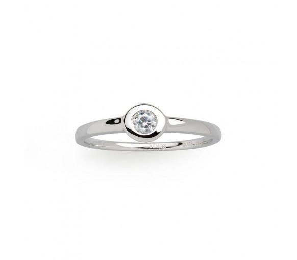 Xenox Silver Circle Zarge Ring - XS7388