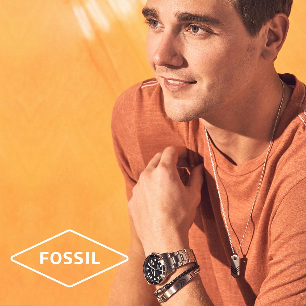 fossil men's jewellery