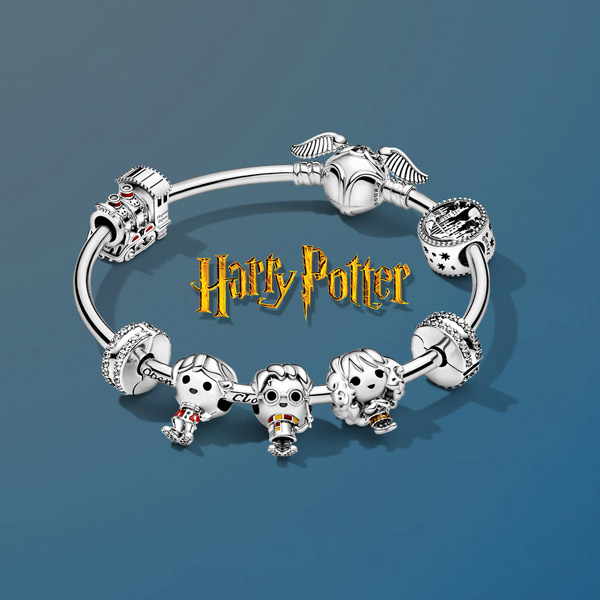 charms harry potter pandora argent